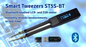 Smart Tweezers ST5S-BT allows users to remotely record their measurement values in real time.